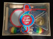 Melissa And Doug Band In A Box Clap, Clang, Tap New Sealed 10 Piece Set Musical