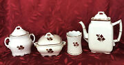 Royal Ironstone Meakin Tea Leaf Pattern 4 Pieces Old With Interesting History