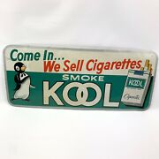 Vtg 60andrsquos Kool Cigarettes Store Advertising Metal Tin Sign Tobacciana Willy Euc