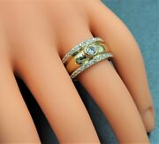 Womens Mens Ring 9ct Gold Cubic Zirconia Tuscany Style Ring Fine Jewellery Band
