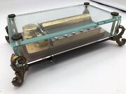 Vintage Reuge Romance 72 Notes Music Box Clear Glass Case Swiss Made [416]