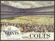 1958 Baltimore Colts And Giants Team Signed Program Greatest Game Ever Played Jsa