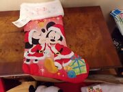 Disney Mickey And Minnie Mouse Christmas Stocking Decorations 18 In