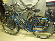 Pair Of Original Classic Vintage 1970 Womenand039s Raleigh Sports Bicycles