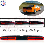 Led Tail Light Lamps Rh And Lh For 2008-2014 Dodge Challenger Sequential Red Lens