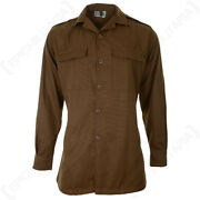 Original Shirt South African Long Sleeve Nutria Brown Army Military - All Sizes