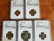1967 Ngc Sms Ms67andnbsp 5-coin Set Encased In New Scratch Free Holders / Super Buy