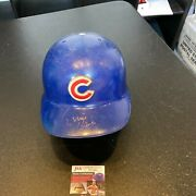 Ernie Banks Signed Game Used 1960and039s Chicago Cubs Helmet With Jsa Coa