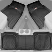 Black Car Floor Mats 3 Piece Set Rubber All Weather Protection For Car Truck Suv