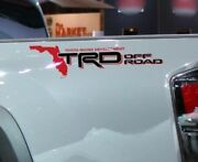 Pair Of Trd Florida Map Off Road Bedside Truck Decals Tacoma Tundra Fj Cruiser