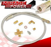 Oil Cooling Jdm Stainless Steel Braided Line Hose Turbo Oil Feed Kit T70 T60 T61