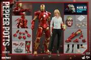 1/6 Hot Toys Toy Sapiens Limited Pepper Potts And Mark 9 Bonus Accessory Edition