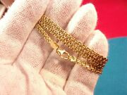 Excellent Mens Ladies 18k Yellow Gold Tight Mesh Style 20.5 Mid-east Necklace