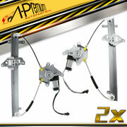2x Front Left And Right Power Window Regulator W/motor For Nissan Sentra 1995-1999