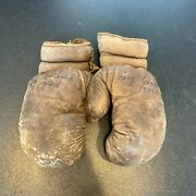 Tony Galento Two Ton 1943 Personally Owned Used Boxing Gloves Fight Worn