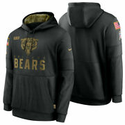 Authentic Nike Chicago Bears Menand039s 2020 Nfl Salute To Service Hoodie Black New
