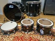 New Dw Collectors Maple Series Drum Kit Snare Black