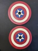 Onnit Captain America Olympic Plates 45 Lbs. Super Rare Like Onnit Kettlebell