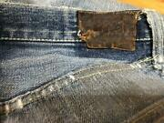 Leviand039s 50and039s Leather Patch Vintage Affa Denim Jeans Shanti Menand039s Size 32 - 33