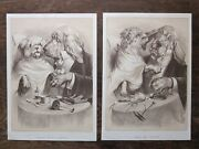1889 Show Your Tongue And Feel My Teeth Pair Antique Dog Caricatures Rh Moore