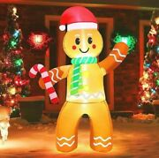 5ft Christmas Inflatable Gingerbread Air Blow Yard Decoration Led Light
