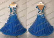 A Brand New Ready To Wear Electric Blue Georgette Ballroom Dress Sizes Us 4-6