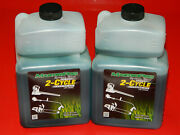 2 Pack Synthetic Blend Air Cooled 2-cycle Engine Oil Low Smoke With Stabilizer