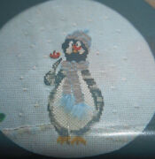 Oop 1994 Frosty Friends Penguin Pattern And Specialty Threads Floss By Sue Lentz