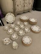 Vintage Cauldon English China Sledmere In Cream With Floral Pattern Set Of 12