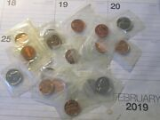 20x United States Mint Cents And Nickels Coins = Mixed Dates - All From Mint Set