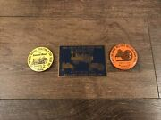 Williams Grove Park Pa Steam Engine Show Brass Plaques Sign 1973 Kempton Pin