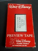 Disney French Vhs Tape 1992 - Demo Tape - Beauty And The Beastrare Oop Promo