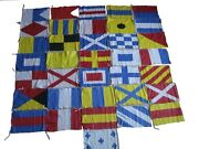 Maritime Signal Code Flag Set - 100 Cotton - Set Of Total 36 Flags