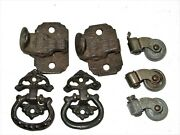 Antique Replacement Hardware Wardrobe Parts Cabinet Latches Pulls Casters