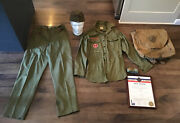 Vintage 1940s Bsa Boy Scout Scouts Red Hill Pa Uniform Hat Back Pack Charter Etc