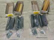 Lot 4 Handh Hg87366 Single Action Template Spring Hinges 6 X 6 Prime Coated