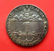 🔥very Rare🔥silver Medal Proclamation Santiago Chile 1818 Independence
