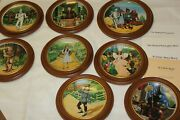 Full Set Of 8 Knowles Wizard Of Oz Collector Plates By James Auckland W/frames