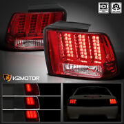 Fits 1999-2004 Ford Mustang Red Tail Lights Sequential Led Signal Brake Lamps