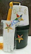 Oes Eastern Star Fez Black Case And White Gloves