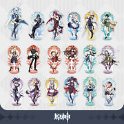 Official Genshin Impact Acrylic Stand Figure Collection Mona Venti Diluc Albedo