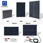 Eco10w 25w Solar Panel 12v Battery Maintainer Trickle Charge Car Rv Boat Trailer