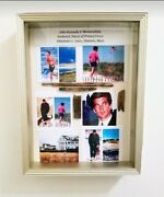 Jfk Jr John Kennedy Jr Collectible -hyannis Mass. Privacy Fence In Shadowbox✔✔