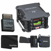 Zoom F6 6-input 14-track Multitrack Field Recorder + Bluetooth Adapter + Case