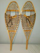 Vintage Snowshoes 43x13 Snow Shoes Leather Bindings