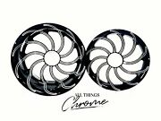 Gsxr 300 Fat Tire Black Contrast Cut Chaos Wheels 01-05 Suzuki Gsxr 600 750