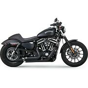 Vance And Hines 47229 Black Shortshots Staggered Exhaust System 14-20 Sportster