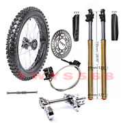 17 Front Wheel Tire 70/100-17 Brake Front Shock Forks Axle Atomik Dirt Pit Bike