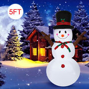 Christmas 5ft Inflatable Led Light Up Snowman Outdoor Yard Decoration Xmas New