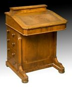 Walnut Davenport Desk. England 19th Century.